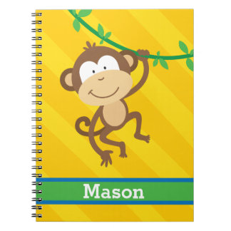 Funny Monkey in the Jungle Personalized Notebook