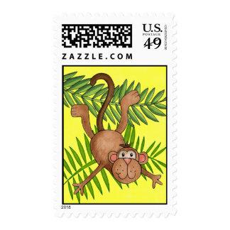 Funny Monkey Jungle Zoo Safari Postage