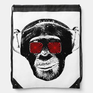 Funny monkey drawstring bag