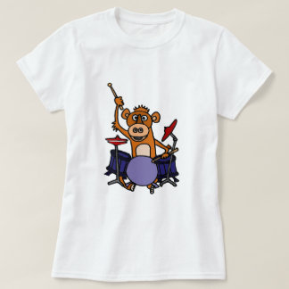 Funny Monkey Playing Drums T-Shirt