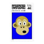 Funny Monkey Postage - Blue
