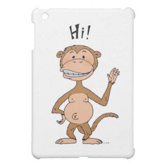 Funny monkey saying HI! iPad Mini Cases