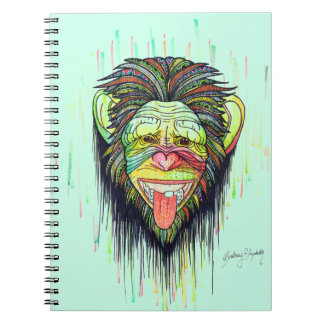 Funny Monkey Spiral Notebook
