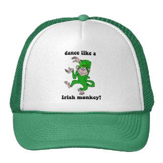 Funny monkey St Patrick's Day Mesh Hats