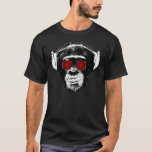 """Funny monkey T-Shirt<br><div class=""""desc"""">Funny monkey! Hello and welcome this design was made and designed by myself. It represents a  monkey in the old school style,  it is adorned with psychedelic glasses which gives it a completely crazy look.</div>"""