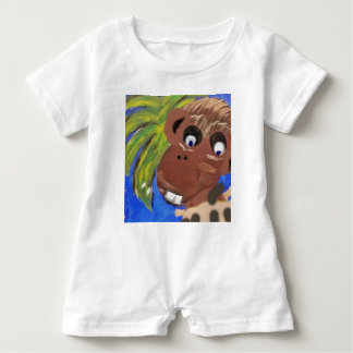Funny Monkey Teopical Baby Romper