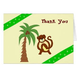 Funny Monkey Thank You Card