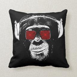 Funny monkey throw pillow