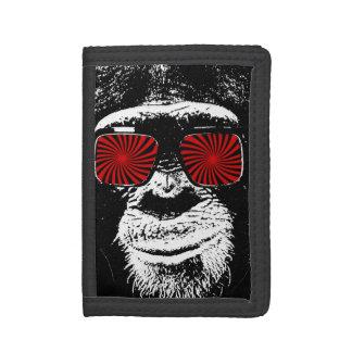 Funny monkey tri-fold wallet