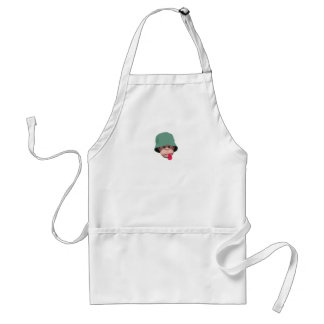 Funny monkey with attitude kawaii cute graphic aprons