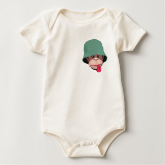 Funny monkey with attitude kawaii cute graphic baby bodysuit