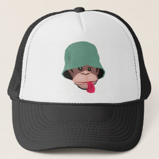 Funny monkey with attitude kawaii cute graphic trucker hat
