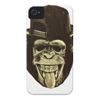 Funny Monkey with Hat iPhone 4 Cover