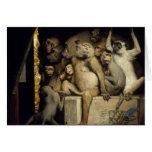Funny Monkeys Card:   Monkeys Art Critics Greeting Card