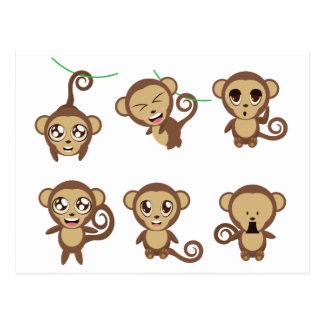 Funny Monkeys Postcard