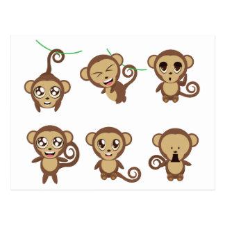 Funny Monkeys Postcard