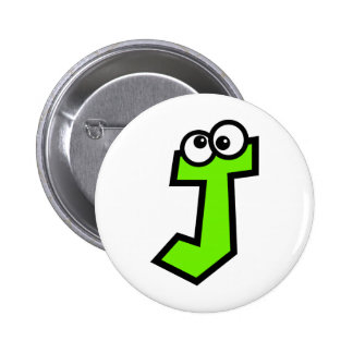 Funny Monogram Letter J 2 Inch Round Button