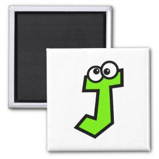 Funny Monogram Letter J Magnet