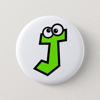 Funny Monogram Letter J Pinback Button