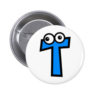 Funny Monogram Letter T Pinback Button