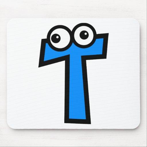 Funny Monogram Letter T Mousepads