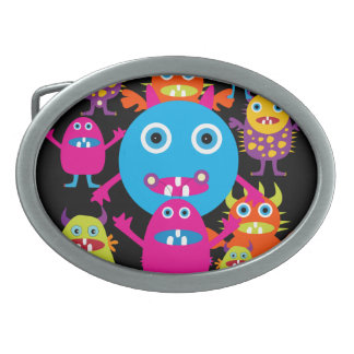 Funny Monster Bash Cute Creatures Party Belt Buckles