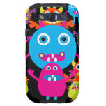 Funny Monster Bash Cute Creatures Party Samsung Galaxy S3 Cases
