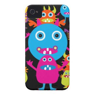 Funny Monster Bash Cute Creatures Party iPhone 4 Covers