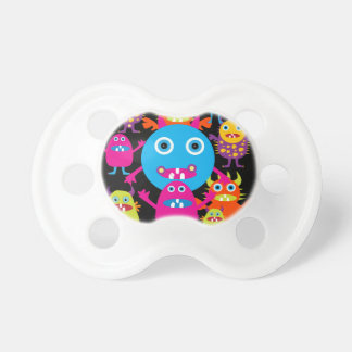 Funny Monster Bash Cute Creatures Party Pacifier