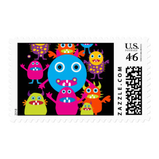 Funny Monster Bash Cute Creatures Party Postage