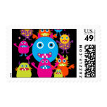 Funny Monster Bash Cute Creatures Party Stamp