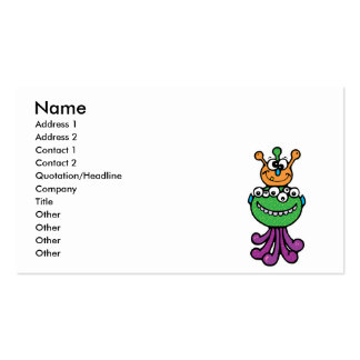 funny monster business card template
