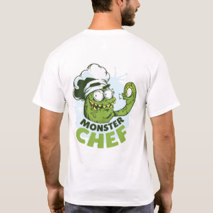 Funny Monster Chef Kraken Octpous Monster Custom T-Shirt
