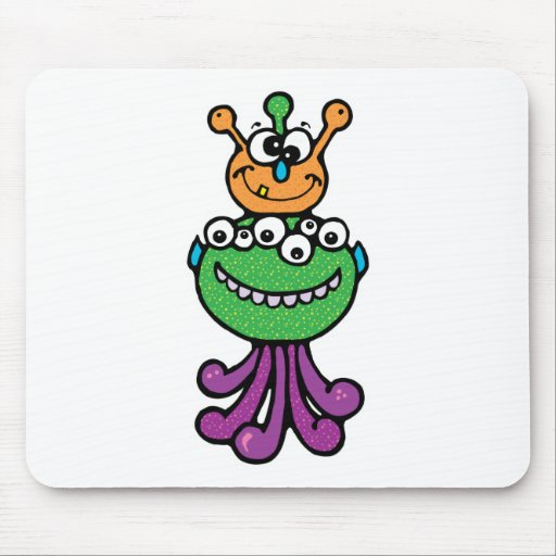 funny monster mouse pad