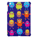 Funny Monster Party Cute Creatures on Blue Case For The iPad Mini