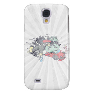 funny monster racer pit stop vector cartoon galaxy s4 cases