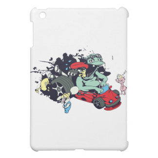 funny monster racer pit stop vector cartoon iPad mini cases