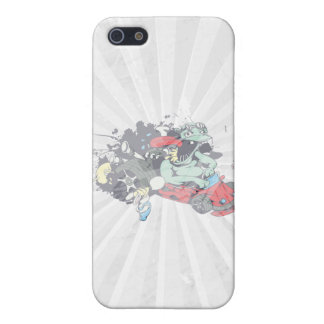 funny monster racer pit stop vector cartoon covers for iPhone 5