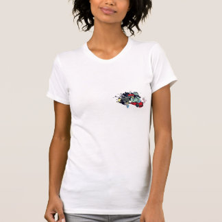 funny monster racer pit stop vector cartoon shirts