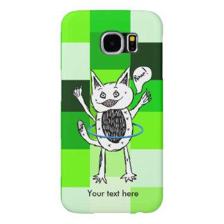 Funny Monster Roar Green Pattern Hula Hoop Sketch Samsung Galaxy S6 Cases
