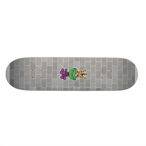 funny monster skate board