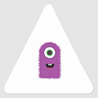 Funny Monster Triangle Sticker
