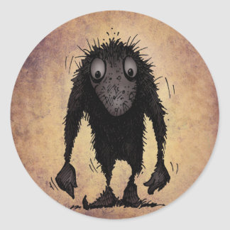 Funny Monster Troll Classic Round Sticker