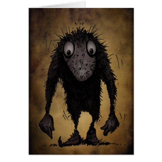 Funny Monster Troll Greeting Card