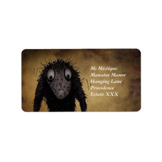 Funny Monster Troll Label