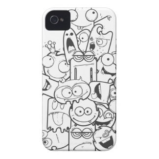 funny monsters iphone 4 case-mate case