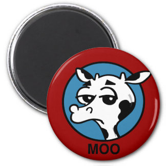 FUNNY MOO COW MAGNET
