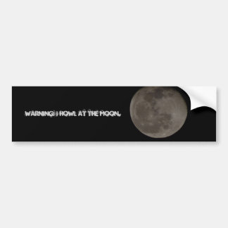 Funny Moon Bumper Sticker