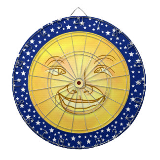 Funny Moon Man Outer Space Vintage Dartboard With Darts