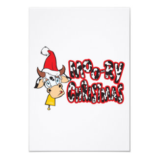 Funny Moory Christmas Cow Moo-ry Invitation Cards